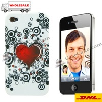 Hot sales MIX design TPU skin case with beautiful flower for Apple iPhone 4+DHL+ free shipping