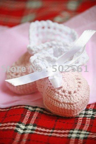 Sapatos mão crochet do bebê botas infantis calçados do bebê venda quente grátis frete(China (Mainland))