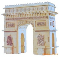 Mixed order-DIY car model-woodcraft construction kit-stereo puzzles-3D fancy toy-educational toys triumphal arch