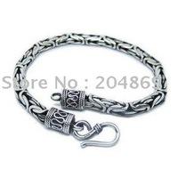 sexy classic men use bracelet chain 925 silver thai silver 6mm 33g