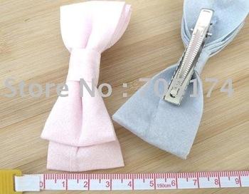 high quality Korea FASHION silk ribbon hair clip /silk ribbon ponytail hair clip