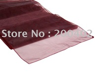 table runner/  burgundy organza  table runner