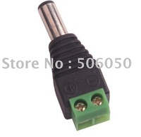 DC 5.5/2.1mm Male CCTV UTP Power Plug Adapter Cable DC/AC 2, Camera Video Balun Connector KELISHA