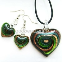 Free shipping!!! lovely Murano Glass Pendants earring set, Fashion pendants and earring, Wholesales murano glass pendants