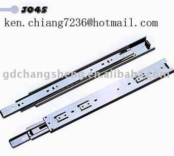 45mm 3-fold  full extension ball bearing  drawer rail