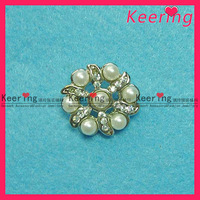 Free shipping 100pcs/lot hot sell pearl button plating in silver #WBK-030-1