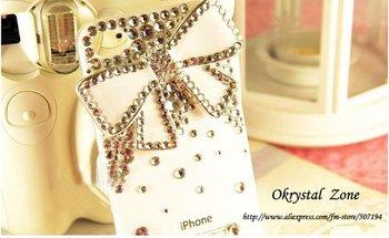 Swarovski mobile phone Case diamond Cover for phone 4 free shipping