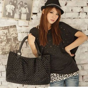 Hot sale high quality Freeshipping women's fashion leather straw bag+competitive wholesale price