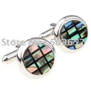 2011 Trendiest Shell Cuff Link 4pairs Wholesale / Free Shipping
