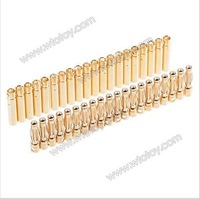20pcs 4.0mm Gold Bullet Connector Banana Plug Battery