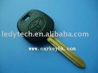 Original Toyota transponder key with 4C chip yellow brass
