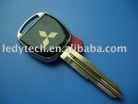 Promotion! New style Mitsubishi transponder key blank with right blade, car key blank