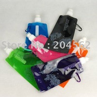 Portable folding compartment/environmental protection water bottles/outdoor folding sports ice packs / 6 color can be chosen