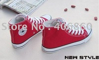 2012--Free shipping 2 pcs /lot  hot selling fashion new style low price Couples canvas shoes