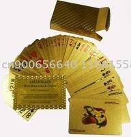 Manufacturers selling 24K gold foil poker + specification: 57 * 87MM