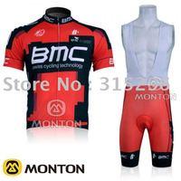 WHOLESALE 2011 RED BMC team short bib cycling jersey/biking gear/pro cycling jersey FREE SHIPPING