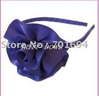 "new style girls hair bows grosgrain ribbon headbands  3"" ribbon hair flowers  hair accessories hair clips 100pcs/lot"