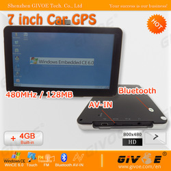 7 inch GPS Navigation with Media MT3351 CPU + 128MB RAM + Bluetooth + AV-IN + Free 4GB TF Card/Maps/Shipping(China (Mainland))