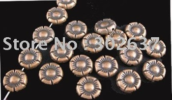 FREE SHIPPING 150pcs Antiqued copper plt crafted flower spacer beads A36C