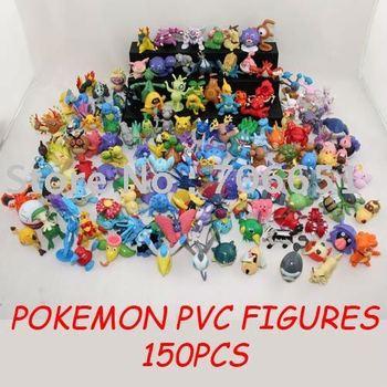 free shipping pokemon PVC anime figure collectable figure set (150pcs)052703