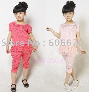 Children's clothing girls sundress 2011 bud silk flowers ironed ablazely elegant princess sleeve suit (67)