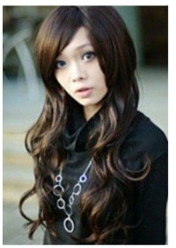 New Women's Accessories long curly hair health full wig Free shipping