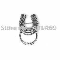 6pcs lot free shipping antique silver horseshoe charm brooch pin eyeglasses holder fashion jewelry