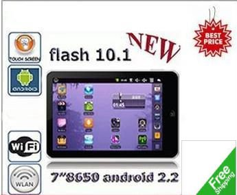 "2011 Best Selling+Wholesale Price Free shipping 8"" ED98 MID Tablet PC+Android 2.2+Webcam+External 3G+Wifi +VIA 8650+4GB"