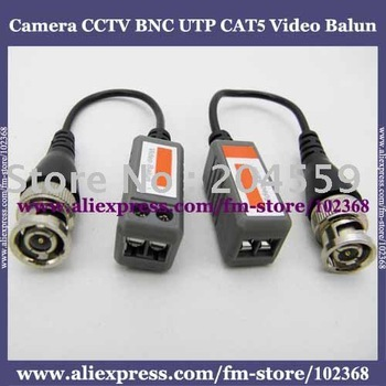 50pcs Camera CCTV BNC UTP CAT5 Video Balun Twistered Pair Transceiver Cable AT-C12-06