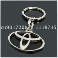 30pcs Toyota high quality fashion key chain car keychains keyring keyrings automobile auto metal keychain logo ring gift box