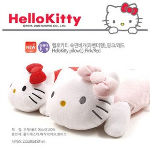 Stuffed Plush Toy Hello Kitty Cartoon Pillow for Kids 40*23*12CM(China (Mainland))