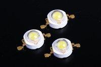 Free shipping  100pcs/lot 1 Watt Taiwan Chip Cool White 100-120lm Power LED