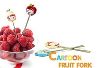 [Free Shipping]Cute baby picture of fruit, creative fruit fork