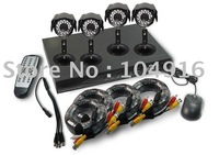 Promotion! 4CH DVR Kit 4 D1 DVR With 520TVL IR Waterproof Camera System
