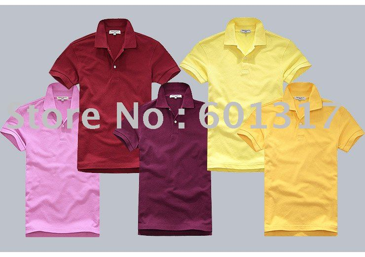 HOTSALES! Men's 2011 Newest cotton piqu - Polo T shirt, Plain style & DIY freely. multicolour,S-3XL.MOQ.5pcs up.(China (Mainland))