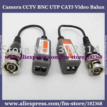 50pairs Camera CCTV BNC UTP CAT5 Video Balun Twistered Pair Transceiver Cable AT-C12-06