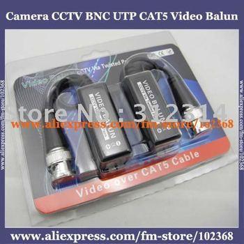 100pairs Camera CCTV BNC UTP CAT5 Video Balun Twistered Pair Transceiver Cable AT-C12-19B