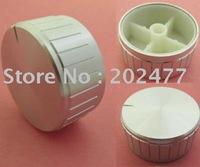 80pc/lot 40mm Diameter Silver Audio Aluminum Knob with 6mm shaft