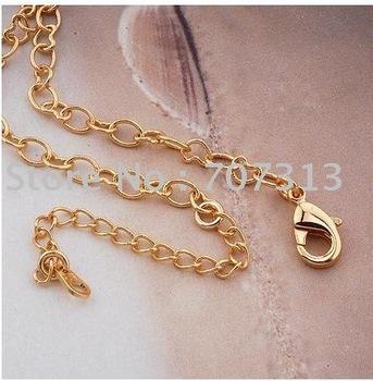 fashion jewrlry women/men 18k gold filled heart chain necklace jewelry jewellry chain necklace gift jewelry