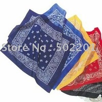 "Free Shipping Wholesale 21""  Cotton Paisley Bandana Red, Yellow, Black.."