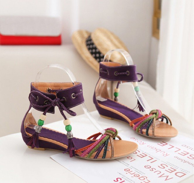Freeshipping New Arrival New Style Fashion Sandals Lady Shoes wedge heel Rome Shoes wedge heel(China (Mainland))
