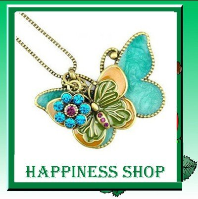 New Arrival 10pcs/lot Wholesale Fashion Jewelry vintage butterfly Butterflies in Couple pendants Chain necklace Free Shipping(China (Mainland))