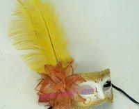 Hallowmas Venetian Masquerade Feather Mask Dance party Masks Free Shipping  20 pcs