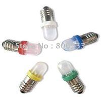 Free shipping!1000pcs/lot E10 1 LED Light Bulbs 12V Led Bulb Light Lamp  led lamp bulbs