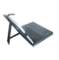 "7""USB Tablet PC Leather Keyboard Case for ZT180,Flytouch X220 tablet pc russian keyboard Free Shipping! Dropship"