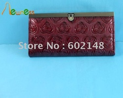 Special Offer !!Free Shipping Wholesale Fashion PVC Lady's Wallet,Mixed Colour .Accept Paypal.Best Service!!!(China (Mainland))