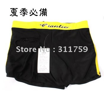 Free shipping New fashionable man trunks/men's inner swim trunks/sexy underwear polychromatic quality(China (Mainland))