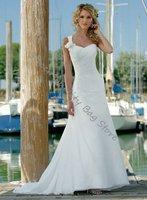 Exquisite One-Shoulder Floor-Length A-Line Wedding dress,Bride Dress,Custom Size and Color