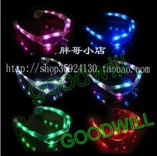 wholesale EMS free shipping 10pcs/lot led lighting glasses for party(China (Mainland))