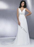 Exquisite Sleeveless Floor-Length A-Line Wedding dress,Bride Dress,Custom Size and Color